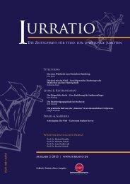 Die Zeitschrift für stud. iur. und junge Juristen Die Zeitschrift ... - Iurratio