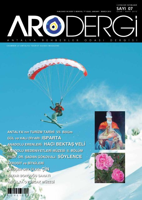 Sayı 07- Ocak / Mart 2012 - Antalya Rehberler Odası