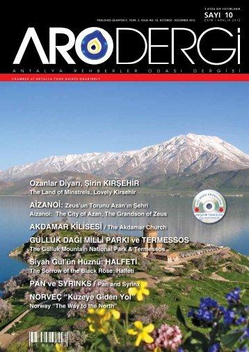 Sayı 10- Ekim/Aralık 2012 - Antalya Rehberler Odası