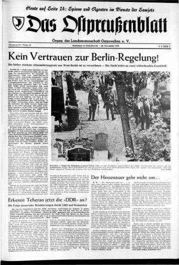Kein Vertrauen zur Berlin-Regelung! - Archiv Preussische ...