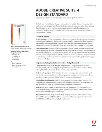 ADOBE® CREATIVE SUITE® 4 DESIGN STANDARD