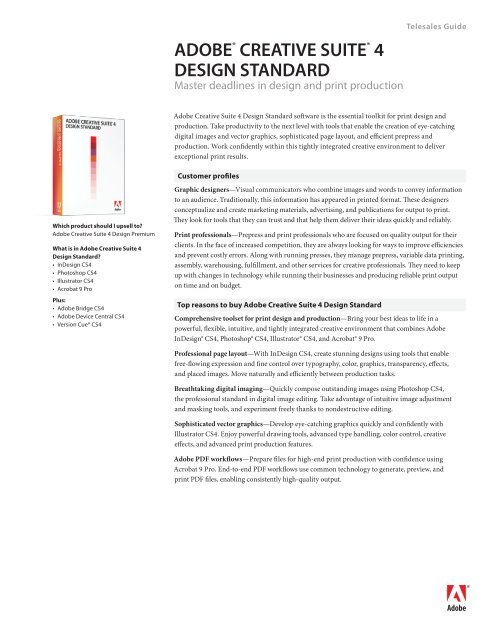 Adobe Creative Suite 4 Design Standard