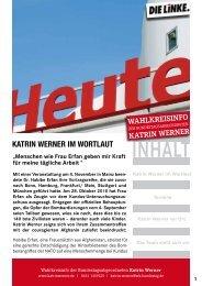 Oktober - DIE LINKE. Katrin Werner