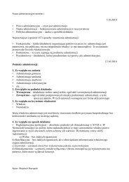 5.10.2010 • Prawo administracyjne – czym jest administracja Nauka ...