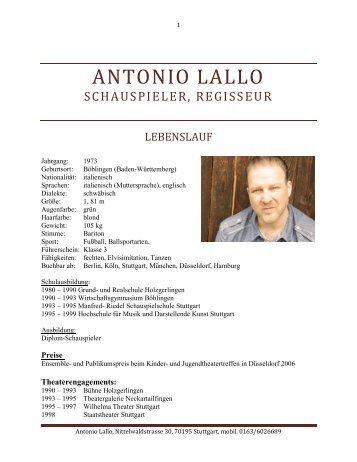aktueller lebenslauf mit bild antonio lallo - Aktueller Lebenslauf