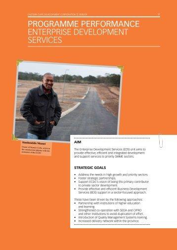 Development Services - Eastern Cape Development Corporation