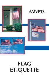 flag etiquette - the AMVETS National Service Foundation Website