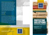 PROTECTING COLLECTIONS - CCAHA