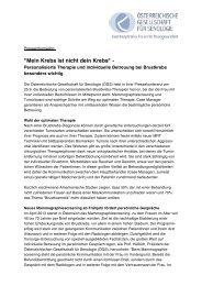 Download Presseinformation - Österreichische Gesellschaft für ...