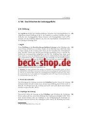 4. Teil. Das Erlöschen der Leistungspflicht - Beck-Shop.de