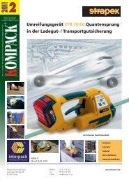 Umreifungsgerät STB 70/80 Quantensprung in der Ladegut - Kompack