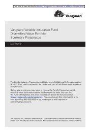 Vanguard Variable Insurance Fund Diversified Value Portfolio ...