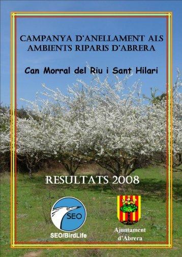 Informe anellament a Abrera 2008 0 - Ajuntament