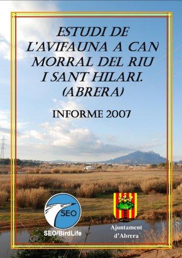Estudi avifauna Abrera. Informe 2007 1 - Ajuntament d'Abrera
