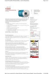 Canon D10 - Checkvision.de