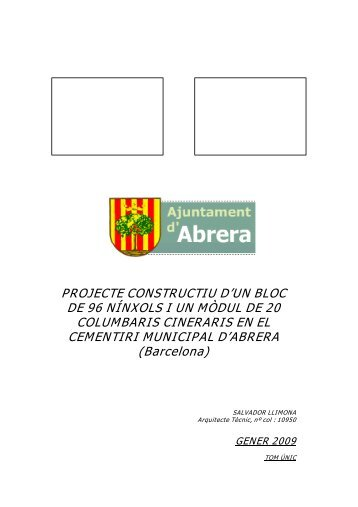PROJECTE CONSTRUCTIU D'UN BLOC DE 96 NÍNXOLS I UN ...