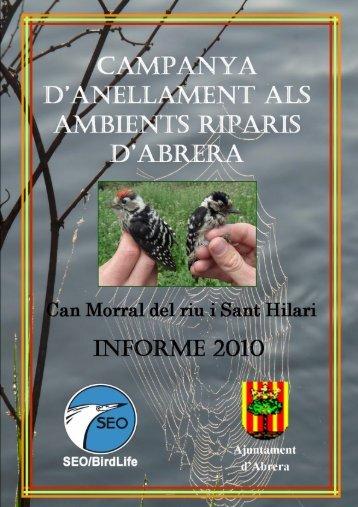 Informe anellament a Abrera 2010 0 - Ajuntament d'Abrera