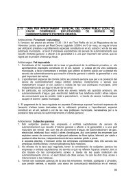95 2.15 taxa per aprofitament especial del domini ... - Ajuntament