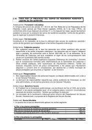 2.18 TAXA PER LA PRESTACIÓ DEL SERVEI DE ... - Ajuntament