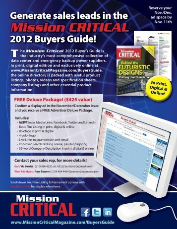 Mission CRITICAL - BNP Media Directories and Buyers Guides