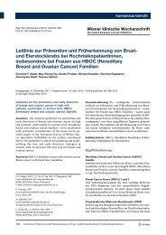Leitlinie zur Prävention und Früherkennung von Brust- und ...