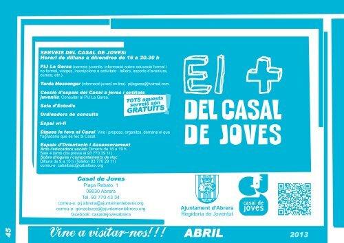 SERVEIS DEL CASAL DE JOVES: - Ajuntament d'Abrera