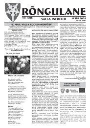 Aprill 2009 - Rõngu Vald