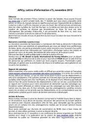 Lettre d'information n°5, octobre 2012 - APiCy