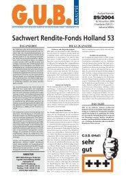 Sachwert Rendite-Fonds Holland 53 - G.U.B.-Fondsguide