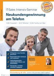 Neukundengewinnung am Telefon - Amiando