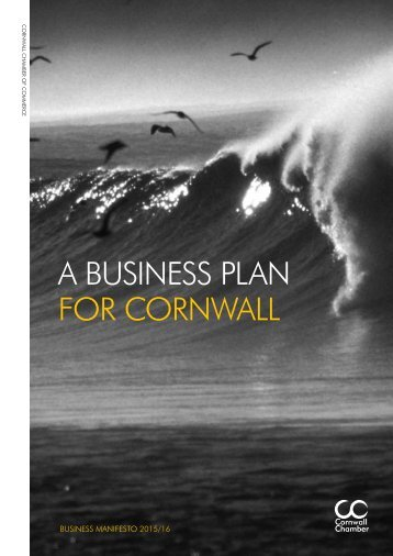 Cornwall Chamber A Business Plan for Cornwall web pdf