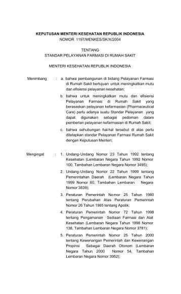 keputusan menteri kesehatan republik indonesia ... - Eprints UAD