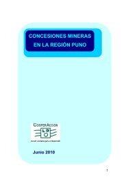 Concesiones mineras en la región Puno