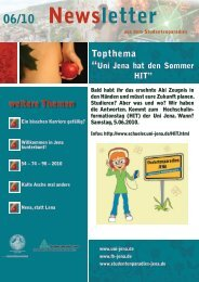 Newsletter - Studentenparadies Jena