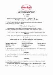 Prohlášení o vlastnostech - Ceresit CT 29