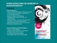 ERGEBNISSE - Netzwerk Kulturelle Bildung Mecklenburg ...