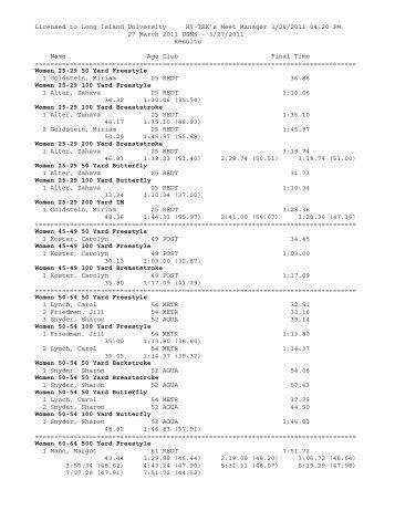 3/27/2011 Results N