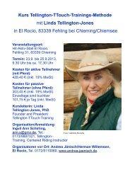 Kurs Tellington-TTouch-Trainings-Methode mit Linda ... - TTeam