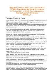 TTEAM®-Practitioner Stephanie Hornung - Islandpferdehof Hainbuche