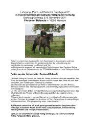 Centered Riding® Instructor Stephanie Hornung