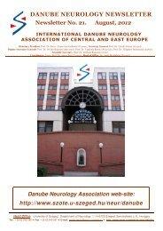 danube neurology newsletter - Szent-Györgyi Albert Klinikai Központ