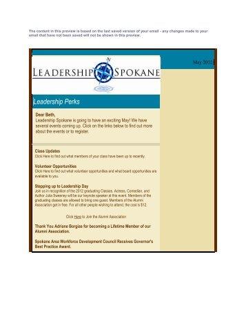 May 2012 - Leadership Spokane