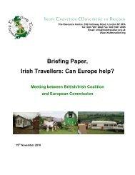 Can Europe help? - Irish Traveller Movement in Britain