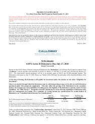 July 2012 Debt Prospectus Supplement - Calloway REIT
