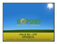Sopogy's Concentrated Solar Power (CSP) Technology