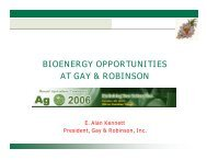 bioenergy opportunities at gay & robinson - Hawaii Energy Policy ...