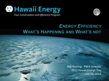 Your Conserva on and Efficiency Program - Hawaii Energy Policy ...