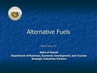 Update on Alternative Fuels - Hawaii Energy Policy Forum
