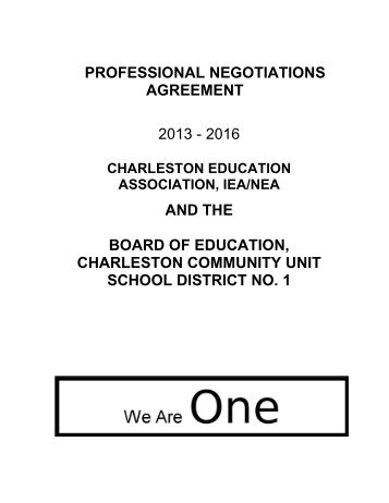 Collective bargaining agreement coal city high school certified collective bargaining agreement charleston school district platinumwayz