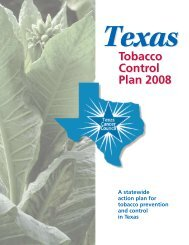 Texas Tobacco Control Plan 2008 - Cancer Prevention Research ...